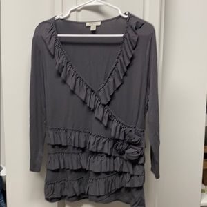 Dark gray quarter sleeve top